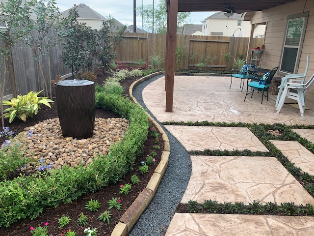 Tanner Patio and Beds Pic